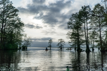 Kayak camping at Dismal Swamp