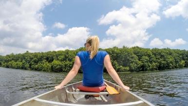 Canoeing at Burke Lake