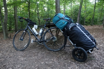 Staycation bikepacking at Burke Lake