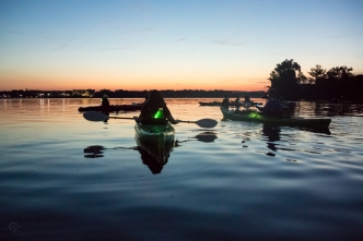 LL Bean full moon kayak tour