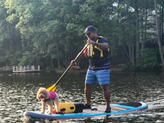 Lake Anne concert paddleboarding